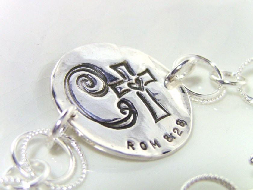 Custom Initial Jewelry from Salt & Light by Lori Delisle.  Life Verse Jewelry.  Sterling Silver, Fine Silver. Christian Jewelry.
