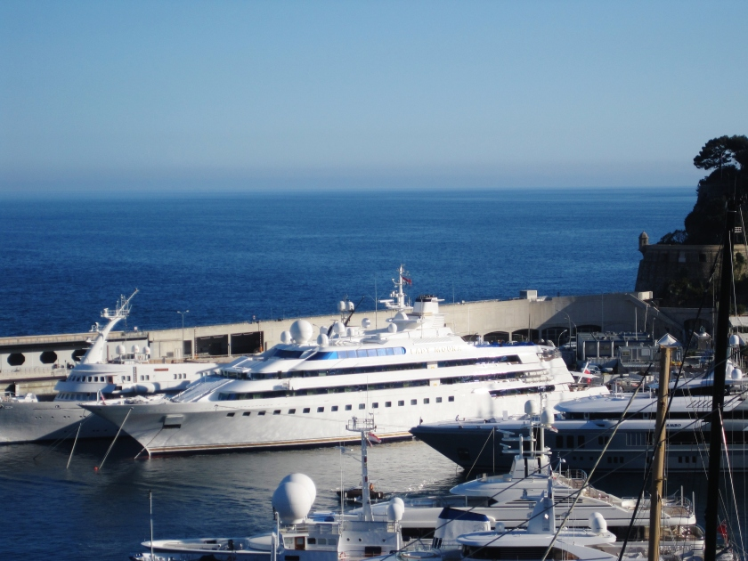 The Lady Moura in Monte Carlo Harbor